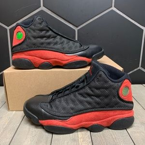 Used 2017 Air Jordan 13 Bred Shoes Size 10